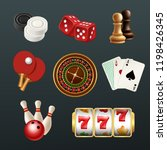 game realistic icons. poker...   Shutterstock .eps vector #1198426345