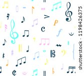 music notes pattern. music... | Shutterstock .eps vector #1198426375