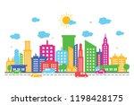 city cityscape skyline... | Shutterstock .eps vector #1198428175