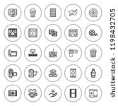 reel icon set. collection of 25 ... | Shutterstock .eps vector #1198432705