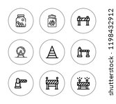 Obstacle Icon Set. Collection...