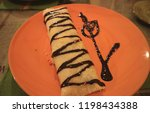 close up of choco banana... | Shutterstock . vector #1198434388