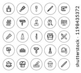 brush icon set. collection of... | Shutterstock .eps vector #1198435372