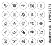 wing icon set. collection of 25 ... | Shutterstock .eps vector #1198435378