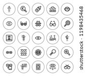eyesight icon set. collection... | Shutterstock .eps vector #1198435468