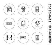 vip icon set. collection of 9... | Shutterstock .eps vector #1198438102