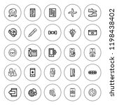 trendy icon set. collection of...