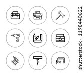 screw icon set. collection of 9 ...   Shutterstock .eps vector #1198440622
