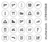 historic icon set. collection... | Shutterstock .eps vector #1198440868