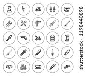battle icon set. collection of... | Shutterstock .eps vector #1198440898
