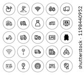 free icon set. collection of 25 ... | Shutterstock .eps vector #1198440952