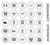 elegant icon set. collection of ... | Shutterstock .eps vector #1198440985