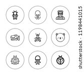 creature icon set. collection... | Shutterstock .eps vector #1198441015