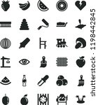 solid black flat icon set... | Shutterstock .eps vector #1198442845