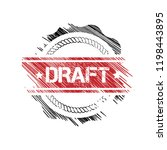 draft watermark stamp. abstract ... | Shutterstock .eps vector #1198443895