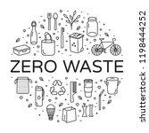 vector zero waste logo design... | Shutterstock .eps vector #1198444252