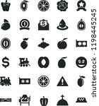 solid black flat icon set... | Shutterstock .eps vector #1198445245