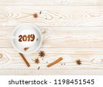 new year numbers 2019 on...   Shutterstock . vector #1198451545