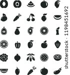 solid black flat icon set... | Shutterstock .eps vector #1198451692