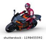 3d cg rendering of motorbike | Shutterstock . vector #1198455592