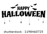 happy halloween text banner.... | Shutterstock .eps vector #1198460725