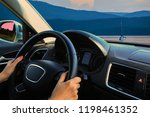view from the car on the... | Shutterstock . vector #1198461352