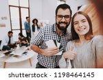 choose colors for design.... | Shutterstock . vector #1198464145