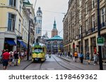Small photo of Hague, Netherlands - July 6, 2018: The city center of Den Haag are full of bars and stores all along the shopping streets. The third largest city in the country and a province of Nord Holland.