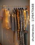 elegant evening dresses on the ... | Shutterstock . vector #1198470688