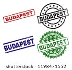 budapest seal prints with... | Shutterstock .eps vector #1198471552