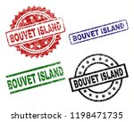 bouvet island seal prints with... | Shutterstock .eps vector #1198471735