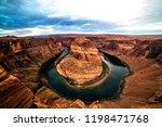 horseshoe bend just northeast...   Shutterstock . vector #1198471768