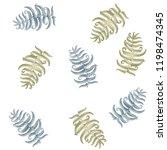 fern frond herbs  tropical... | Shutterstock .eps vector #1198474345
