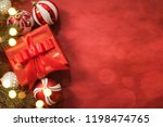 christmas gift. christmas and... | Shutterstock . vector #1198474765