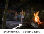 indians of the mentawai tribe ... | Shutterstock . vector #1198475398