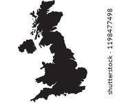 map of uk | Shutterstock .eps vector #1198477498