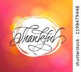 thanksgiving greeting card.... | Shutterstock .eps vector #1198479448
