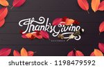thanksgiving day banner... | Shutterstock .eps vector #1198479592