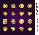 diamonds shapes gold vector... | Shutterstock .eps vector #1198479775