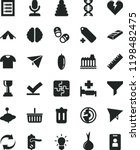 solid black flat icon set... | Shutterstock .eps vector #1198482475