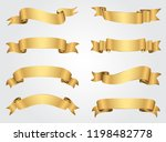 golden ribbon banners set... | Shutterstock .eps vector #1198482778