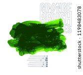 green brush stroke and texture. ... | Shutterstock .eps vector #1198483078