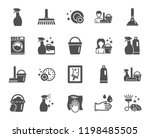 cleaning icons. laundry  sponge ... | Shutterstock .eps vector #1198485505