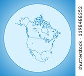 map of north america | Shutterstock .eps vector #1198488352