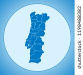 map of portugal | Shutterstock .eps vector #1198488382
