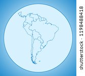 map of south america | Shutterstock .eps vector #1198488418