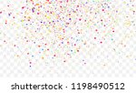 confetti texture isolated on... | Shutterstock .eps vector #1198490512