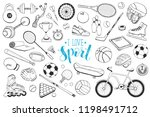 collection of vector sport... | Shutterstock .eps vector #1198491712