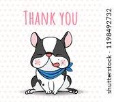 dog breed boston terrier...   Shutterstock .eps vector #1198492732