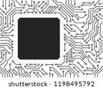 printed circuit board black and ... | Shutterstock .eps vector #1198495792